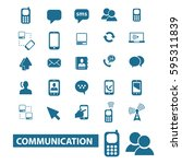 communication icons  | Shutterstock .eps vector #595311839