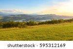 picturesque mountain landscape  ...   Shutterstock . vector #595312169