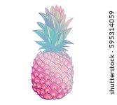 pineapple creative trendy art... | Shutterstock .eps vector #595314059