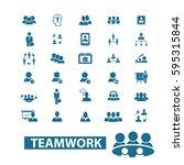 teamwork icons | Shutterstock .eps vector #595315844