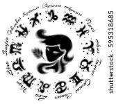 zodiac sign virgo 13 characters ... | Shutterstock .eps vector #595318685