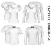 vector. men's and women's shirt ... | Shutterstock .eps vector #59531968