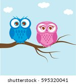 Greeting Card With Two Lovely...