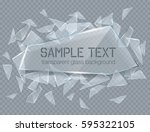 vector transparent broken glass ... | Shutterstock .eps vector #595322105