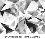 grunge geometric black and... | Shutterstock . vector #595328951