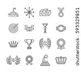 awards line icons. vector... | Shutterstock .eps vector #595329851