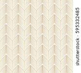 geometry gold pattern vector... | Shutterstock .eps vector #595332485