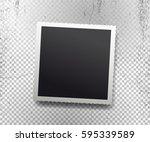retro realistic vector photo... | Shutterstock .eps vector #595339589