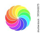 rainbow spectrum color wheel.... | Shutterstock .eps vector #595343075