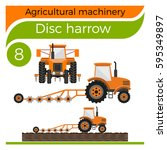 agricultural machinery  disc... | Shutterstock .eps vector #595349897