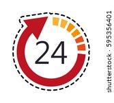open 24 7 icon image  | Shutterstock .eps vector #595356401