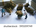 marijuana   men moving their... | Shutterstock . vector #595359749