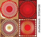 set of red gold various quad... | Shutterstock .eps vector #59536438
