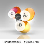circle geometric abstract... | Shutterstock .eps vector #595366781