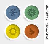 vector season icons set. | Shutterstock .eps vector #595366985
