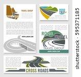 road travel banner template set....   Shutterstock .eps vector #595371185