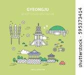 gyeongju line layer set | Shutterstock .eps vector #595373414