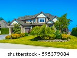 big custom made luxury house... | Shutterstock . vector #595379084