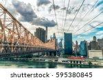 new york city  usa   august 12  ... | Shutterstock . vector #595380845