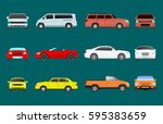 car vehicle transport type... | Shutterstock .eps vector #595383659