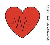 heart cardiogram icon image  | Shutterstock .eps vector #595385129