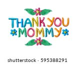 mother's day greeting card with ... | Shutterstock . vector #595388291