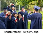 education  graduation ... | Shutterstock . vector #595393505