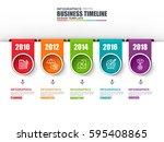 timeline infographic data...   Shutterstock .eps vector #595408865