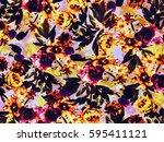 the beautiful of art fabric... | Shutterstock . vector #595411121