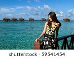 asian girl during holiday at... | Shutterstock . vector #59541454