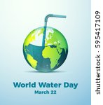 creative world water day poster.... | Shutterstock .eps vector #595417109
