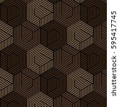brown and black pattern... | Shutterstock .eps vector #595417745
