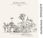 mangalore  karnataka  india.... | Shutterstock .eps vector #595423379