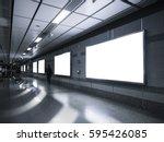 blank billboard banner media... | Shutterstock . vector #595426085