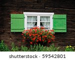Windows With Flower Decoration...