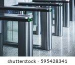 entrance gate card access... | Shutterstock . vector #595428341