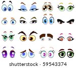 cartoon eye set | Shutterstock .eps vector #59543374
