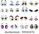 cartoon eye set | Shutterstock .eps vector #59543374