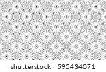 black and white ornament for... | Shutterstock . vector #595434071