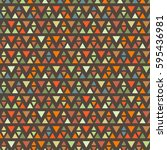 seamless triangle halftone... | Shutterstock .eps vector #595436981
