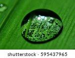 water drop | Shutterstock . vector #595437965