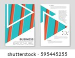 abstract vector layout... | Shutterstock .eps vector #595445255