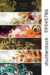 floral backgrounds | Shutterstock .eps vector #59545786