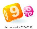 glossy transparent vector... | Shutterstock .eps vector #59545912