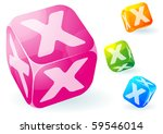 glossy transparent vector abc...   Shutterstock .eps vector #59546014