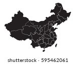 china   map | Shutterstock .eps vector #595462061
