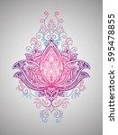 beautiful mehndi pattern with...   Shutterstock .eps vector #595478855