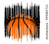 vector illustration basketball... | Shutterstock .eps vector #595481711
