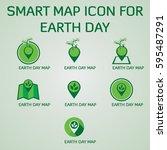 earth day logo vector template | Shutterstock .eps vector #595487291