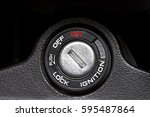 ignition switch starter keyhole ... | Shutterstock . vector #595487864